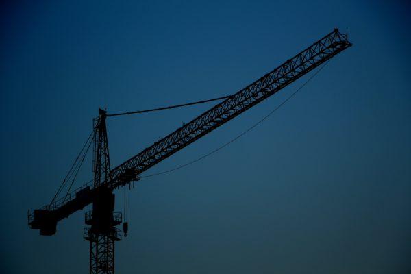 Cran Construction deep blue background