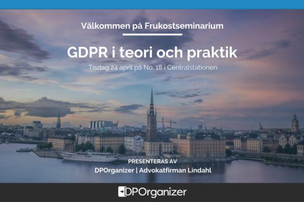 Event: GDPR i teori och praktik