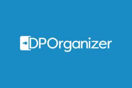 dporganizer logo blue background