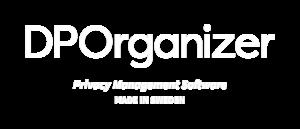 DPOrganizer Made in Sweden logo in white