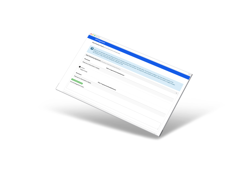 Screenshot of Vendor Manager Start review